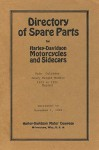 Directory of Spare Parts for Harley Davidson Motorcycles and Sidecars: Twin Cylinder Heavy Weight Models 1913 to 1921 Reprint - Ross Bolton