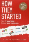 How They Started: How 25 Good Ideas Became Great Companies - David Lester, Carol Tice