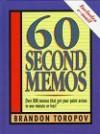 60 Second Memos - Brandon Yusuf Toropov