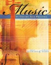 Music in Theory and Practice, Volume 1 with Audio CD - Bruce Benward, Marilyn Saker