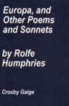 Europa and Other Poems and Sonnets - Rolfe Humphries