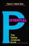 Potential: The Name Analysis Book - Paul Rice, Valeta Rice