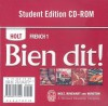 Bien Dit:! French 1 Student CD-Rom (French Edition) - Holt Rinehart