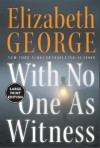With No One As Witness LP - Elizabeth George