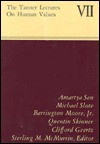 The Tanner Lectures on Human Values, 1986 - Sterling M. McMurrin