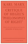 Critique of Hegel's Philosophy of Right - Karl Marx, Annette Jolin, Joseph O'Malley