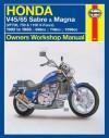 Honda V45/65 Sabre & Magna (VF700m 750 & 1100 V-Fours) 1982 to 1988: Owners' Workshop Manual (Haynes Manuals) - John Harold Haynes