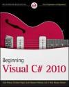 Beginning Visual C# 2010 - Karli Watson, Christian Nagel, Jacob Hammer Pedersen, Jon D. Reid