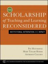 The Scholarship of Teaching and Learning Reconsidered: Institutional Integration and Impact - Pat Hutchings, Mary Taylor Huber, Anthony Ciccone