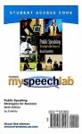 Myspeechlab Student Access Code: Public Speaking: Strategies for Success - David Zarefsky