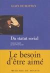 Du statut social - Alain de Botton