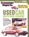 Consumer Reports Used Car Buying Guide 2002 - Consumer Reports, Consumers Union of United States