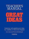 Great Ideas Teacher's Manual: Listening and Speaking Activities for Students of American English - Leo Jones, Victoria Kimbrough