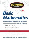 Schaum's Outline of Basic Mathematics with Applications to Science and Technology, 2ed (Schaum's Outline Series) - Haym Kruglak, John Moore, Ramon Mata-Toledo