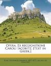 Opera. Ex Recognitione Caroli Iacobitz. [Text in Greek.] - Karl Gottfried Jakobitz, Lucian