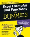 Excel Formulas and Functions For Dummies (For Dummies (Computers)) - Ken Bluttman, Peter G. Aitken