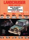 Lancruiser Diesel 4&6 cyl 1972-90 Factory Shop Man-Toyota BJ, HJ, LJ. -40's 55's 60's 70's Bundera - Max Ellery