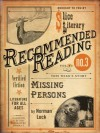 Missing Persons (Slice Literary Recommended Reading, Vol. 12. No. 3) - Norman Lock