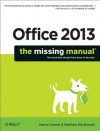 Office 2013: The Missing Manual - Nancy Conner, Matthew MacDonald