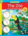 The Zoo: A step-by-step drawing & story book - Jenna Winterberg, Diana Fisher