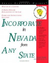 Incorporate In Nevada From Any State (Legal Survival Guides) - Mark Warda
