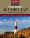 Anderson's Business Law and the Legal Environment, Comprehensive Edition (Anderson's Business Law & the Legal Environment: Comprehensive Volume) - David P. Twomey, Marianne M. Jennings
