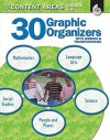 30 Graphic Organizers for the Content Areas Grades 5-8 [With Transparencies] - Wendy Conklin, M.A. Ed.