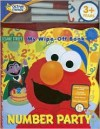 Sesame Street Number Party: My Wipe-Off Book [With Cleaning Cloth and Wipe-Off Markers] - Maggie Swanson, Rick Wetzel
