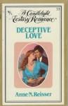 Deceptive Love (Candlelight Ecstasy, #33) - Anne N. Reisser