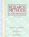 Research Methods for Public Administrators [With CDROM] - Elizabethann O'Sullivan, Maureen Berner, Gary R. Rassel