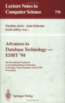 Advances in Database Technology - EDBT '94: 4th International Conference on Extending Database Technology, Cambridge, United Kingdom, March 28 - 31, 1994. ... (Lecture Notes in Computer Science) - Matthias Jarke, Janis Bubenko, Keith Jeffery
