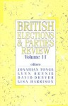British Elections and Parties Review - Jonathan Tonge, David Denver, Lisa Harrison, Jon Tonge