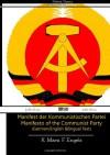 Manifest der Kommunistischen Partei Manifesto of the Communist Party (German/English Bilingual Text) - Karl Marx, Friedrich Engels