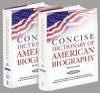 Concise Dictionary of American Biography: Complete to 1970 - American Council Of Learned Societies