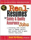 Real-Resumes for Safety & Quality Assurance Jobs - Anne McKinney