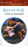 A Wife to Remember - Karen van der Zee
