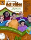 Daily Summer Activities: Moving from K to 1st Grade - Jo Ellen Moore