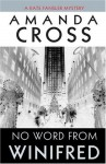 No Word from Winifred (A Kate Fansler Mystery #8) - Amanda Cross