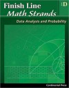 Math Workbooks: Finish Line Math Strands: Data Analysis and Probability, Level D - continental press