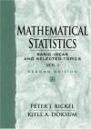 Mathematical Statistics: Basic Ideas and Selected Topics, Vol I - Peter J. Bickel, Kjell A. Doksum
