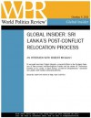 Interview: Sri Lanka's Post-Conflict Relocation Process (World Politics Review Global Insiders) - Robert Muggah, Politics Review, World