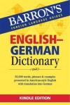 BARRON'S ENGLISH GERMAN DICTIONARY - Barron