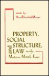 Property, Social Structure, and Law in the Modern Middle East - Ann Elizabeth Mayer