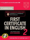 Cambridge First Certificate in English 2 with Answers: Official Examination Papers from University of Cambridge ESOL Examinations - Cambridge ESOL