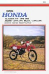 Clymer Honda Xl/Xr 250 350, 1978 1995, Xr200 R, 1984 1985, Xr250 L, 1991 1996 - Clymer Publishing