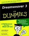 Dreamweaver 3 for Dummies [With CDROM] - Janine Warner