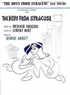 Boys from Syracuse - Hal Leonard Publishing Company, Richard Rodgers, Lorenz Hart