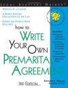 How to Write Your Own Premarital Agreement - Edward A. Haman