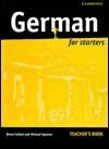 German for Starters Teacher's Resource Book - Diane Collett, Michael Spencer