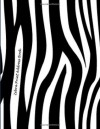 Zebra Print Address Book: Large Print - NOT A BOOK